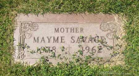 SAVAGE, MAYME - Lucas County, Ohio   MAYME SAVAGE - Ohio Gravestone Photos