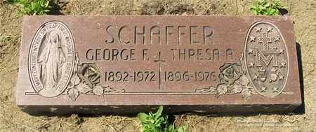 SCHAFFER, GEORGE F. - Lucas County, Ohio | GEORGE F. SCHAFFER - Ohio Gravestone Photos