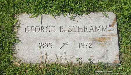 SCHRAMM, GEORGE B. - Lucas County, Ohio | GEORGE B. SCHRAMM - Ohio Gravestone Photos