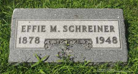 SCHREINER, EFFIE M. - Lucas County, Ohio | EFFIE M. SCHREINER - Ohio Gravestone Photos