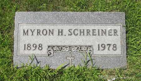 SCHREINER, MYRON H. - Lucas County, Ohio | MYRON H. SCHREINER - Ohio Gravestone Photos