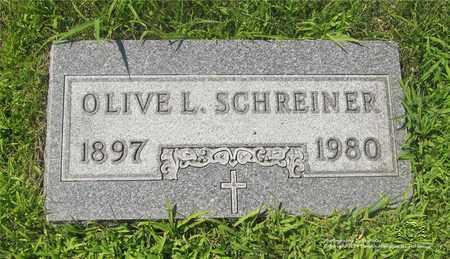 SCHREINER, OLIVE L. - Lucas County, Ohio | OLIVE L. SCHREINER - Ohio Gravestone Photos