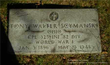 SCYMANSKI, TONY WALTER - Lucas County, Ohio | TONY WALTER SCYMANSKI - Ohio Gravestone Photos