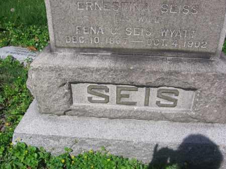 SEIS, ERNESTINA - Lucas County, Ohio | ERNESTINA SEIS - Ohio Gravestone Photos