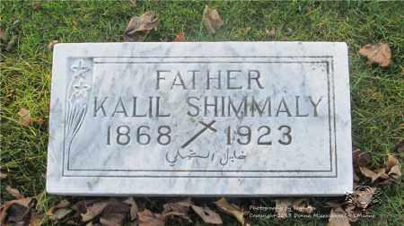SHIMMALY, KALIL - Lucas County, Ohio | KALIL SHIMMALY - Ohio Gravestone Photos