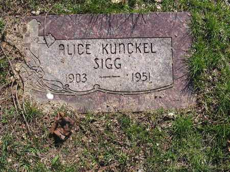SIGG, ALICE - Lucas County, Ohio | ALICE SIGG - Ohio Gravestone Photos