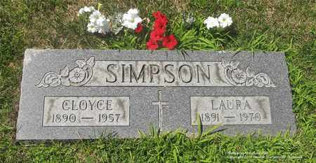 SIMPSON, CLOYCE - Lucas County, Ohio | CLOYCE SIMPSON - Ohio Gravestone Photos