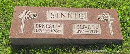 SINNIG, ERNEST A. - Lucas County, Ohio | ERNEST A. SINNIG - Ohio Gravestone Photos