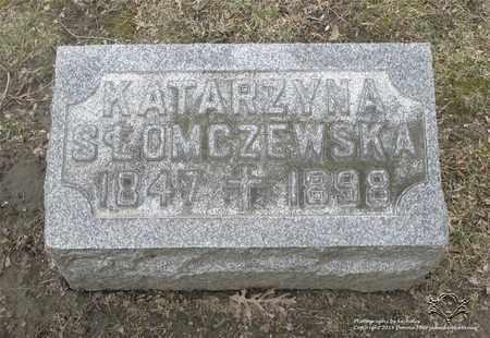 SLOMCZEWSKA, KATARZYNA - Lucas County, Ohio | KATARZYNA SLOMCZEWSKA - Ohio Gravestone Photos