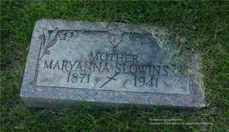 SLOWINSKI, MARYANNA - Lucas County, Ohio | MARYANNA SLOWINSKI - Ohio Gravestone Photos