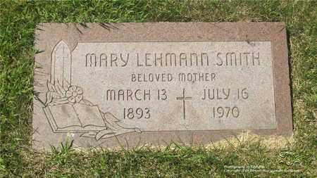 LEHMANN SMITH, MARY - Lucas County, Ohio | MARY LEHMANN SMITH - Ohio Gravestone Photos
