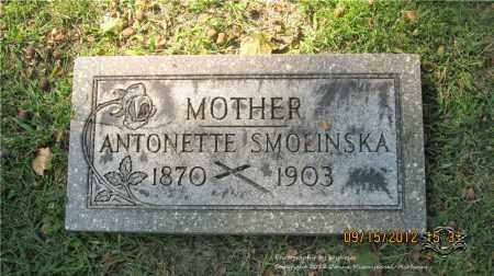 SMOLINSKA, ANTONETTE - Lucas County, Ohio | ANTONETTE SMOLINSKA - Ohio Gravestone Photos