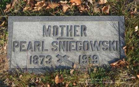 SNIEGOWSKI, PEARL - Lucas County, Ohio | PEARL SNIEGOWSKI - Ohio Gravestone Photos