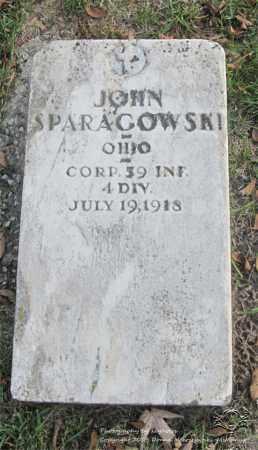 SPARAGOWSKI, JOHN - Lucas County, Ohio | JOHN SPARAGOWSKI - Ohio Gravestone Photos