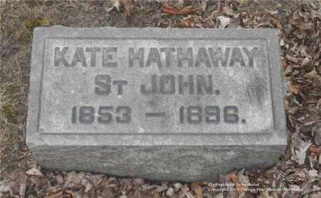 ST. JOHN, KATE - Lucas County, Ohio | KATE ST. JOHN - Ohio Gravestone Photos