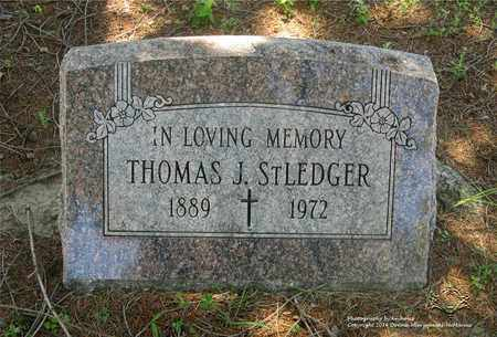 ST. LEDGER, THOMAS J. - Lucas County, Ohio | THOMAS J. ST. LEDGER - Ohio Gravestone Photos