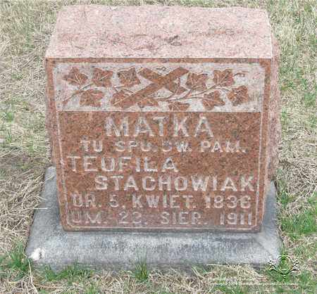 STACHOWIAK, TEOFILA - Lucas County, Ohio | TEOFILA STACHOWIAK - Ohio Gravestone Photos