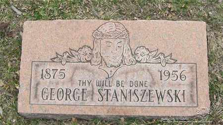 STANISZEWSKI, GEORGE - Lucas County, Ohio | GEORGE STANISZEWSKI - Ohio Gravestone Photos