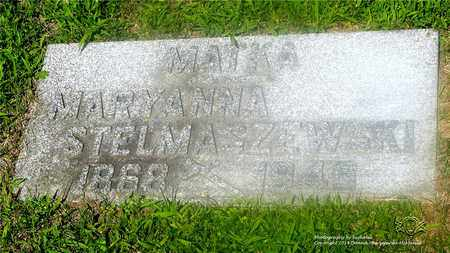 STELMASZEWSKI, MARYANNA - Lucas County, Ohio | MARYANNA STELMASZEWSKI - Ohio Gravestone Photos