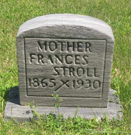 HUBER STROLL, FRANCES - Lucas County, Ohio | FRANCES HUBER STROLL - Ohio Gravestone Photos