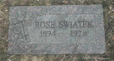 SWIATEK, ROSE - Lucas County, Ohio | ROSE SWIATEK - Ohio Gravestone Photos