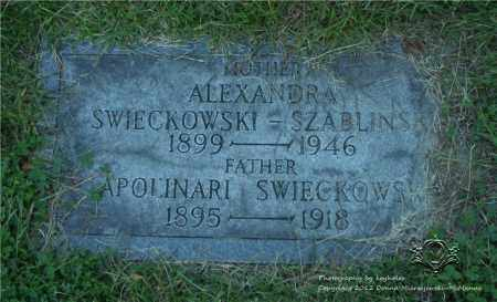 SWIECKOWSKI, APOLINARI - Lucas County, Ohio | APOLINARI SWIECKOWSKI - Ohio Gravestone Photos