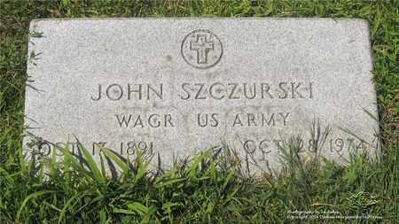 SZCZURSKI, JOHN - Lucas County, Ohio | JOHN SZCZURSKI - Ohio Gravestone Photos