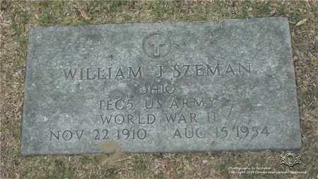SZEMAN, WILLIAM J. - Lucas County, Ohio | WILLIAM J. SZEMAN - Ohio Gravestone Photos