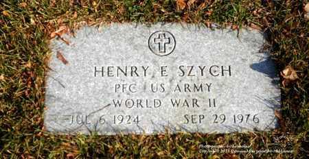 SZYCH, HENRY E. - Lucas County, Ohio | HENRY E. SZYCH - Ohio Gravestone Photos
