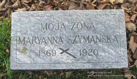 SZYMANSKA, MARYANNA - Lucas County, Ohio | MARYANNA SZYMANSKA - Ohio Gravestone Photos