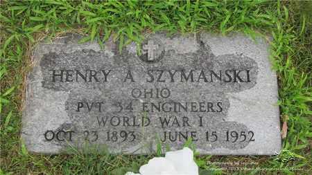 SZYMANSKI, HENRY A. - Lucas County, Ohio | HENRY A. SZYMANSKI - Ohio Gravestone Photos