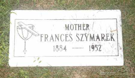 SZYMAREK, FRANCES - Lucas County, Ohio | FRANCES SZYMAREK - Ohio Gravestone Photos
