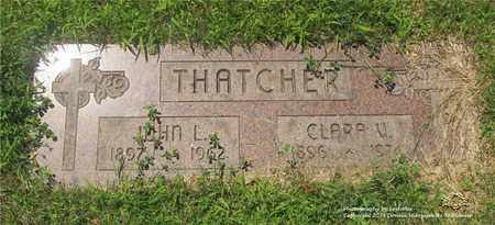 THATCHER, JOHN L. - Lucas County, Ohio | JOHN L. THATCHER - Ohio Gravestone Photos