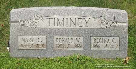 TIMINEY, REGINA C. - Lucas County, Ohio | REGINA C. TIMINEY - Ohio Gravestone Photos