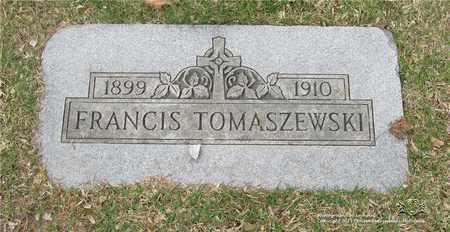 TOMASZEWSKI, FRANCIS - Lucas County, Ohio | FRANCIS TOMASZEWSKI - Ohio Gravestone Photos