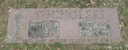 TUCHOLSKI, MARY ANN - Lucas County, Ohio | MARY ANN TUCHOLSKI - Ohio Gravestone Photos