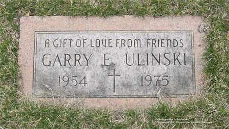 ULINSKI, GARRY E. - Lucas County, Ohio | GARRY E. ULINSKI - Ohio Gravestone Photos
