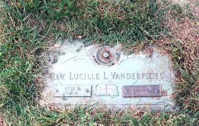 BECKING VANDERPLUG, LUCILLE - Lucas County, Ohio | LUCILLE BECKING VANDERPLUG - Ohio Gravestone Photos
