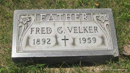 VELKER, FRED G. - Lucas County, Ohio | FRED G. VELKER - Ohio Gravestone Photos