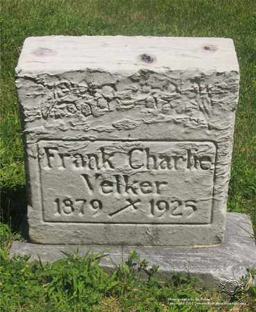 VELKER, FRANK CHARLIE - Lucas County, Ohio | FRANK CHARLIE VELKER - Ohio Gravestone Photos