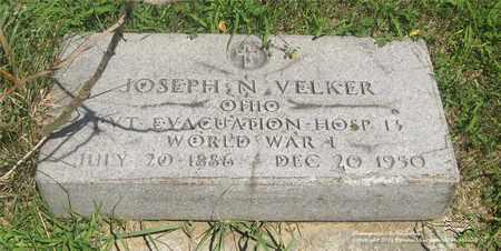 VELKER, JOSEPH N. - Lucas County, Ohio | JOSEPH N. VELKER - Ohio Gravestone Photos