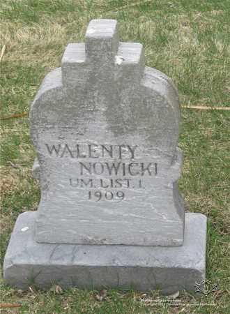 NOWICKI, WALENTY - Lucas County, Ohio | WALENTY NOWICKI - Ohio Gravestone Photos