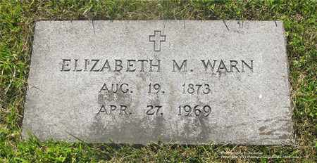 WARN, ELIZABETH M. - Lucas County, Ohio | ELIZABETH M. WARN - Ohio Gravestone Photos