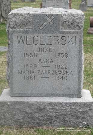 WIECZYNSKI WEGLERSKI, ANNA - Lucas County, Ohio | ANNA WIECZYNSKI WEGLERSKI - Ohio Gravestone Photos