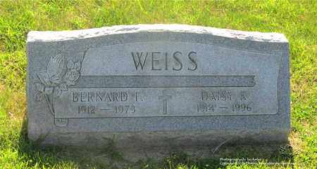 WEISS, BERNARD F. - Lucas County, Ohio | BERNARD F. WEISS - Ohio Gravestone Photos