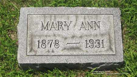 WERNERT, MARY ANN - Lucas County, Ohio | MARY ANN WERNERT - Ohio Gravestone Photos