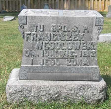 WESOLOWSKI, FRANCISZEK - Lucas County, Ohio | FRANCISZEK WESOLOWSKI - Ohio Gravestone Photos