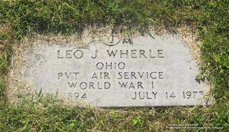 WHERLE, LEO J. - Lucas County, Ohio | LEO J. WHERLE - Ohio Gravestone Photos