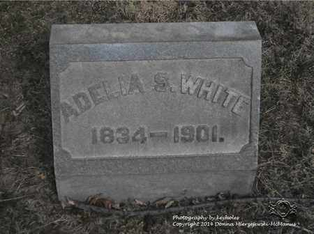 WHITE, ADELIA S. - Lucas County, Ohio | ADELIA S. WHITE - Ohio Gravestone Photos