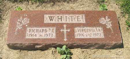 WHITE, VIRGINIA R. - Lucas County, Ohio | VIRGINIA R. WHITE - Ohio Gravestone Photos